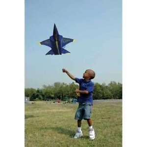 3-D-Blue-Angel-Jet-Plane-Special-Single-Line-Kite-Winder-String-24-PR-11046