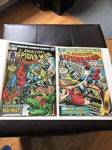 Amazing Spiderman 124 & 125 (1st appearance of Man Wolf) KEY HOT HTF (2 BOOKS)