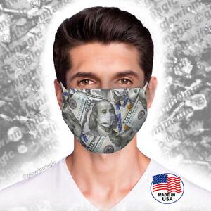Money-Dollar-Bills-face-Mask-Benjamin-s-100-Washable-Reusable-Free-Shipping