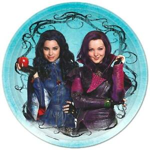 Descendants Lunch Dinner Plates 8 Per Package Birthday Party Supplies New
