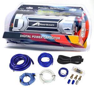 power acoustik pcx3f 3 farad car digital capacitor cap. Black Bedroom Furniture Sets. Home Design Ideas