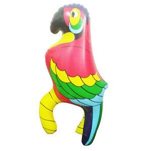 Tropisch-Blow-Up-Animal-Papagei-Piraten-Kostuem-Party-Dekor-Zubehoer-Kit