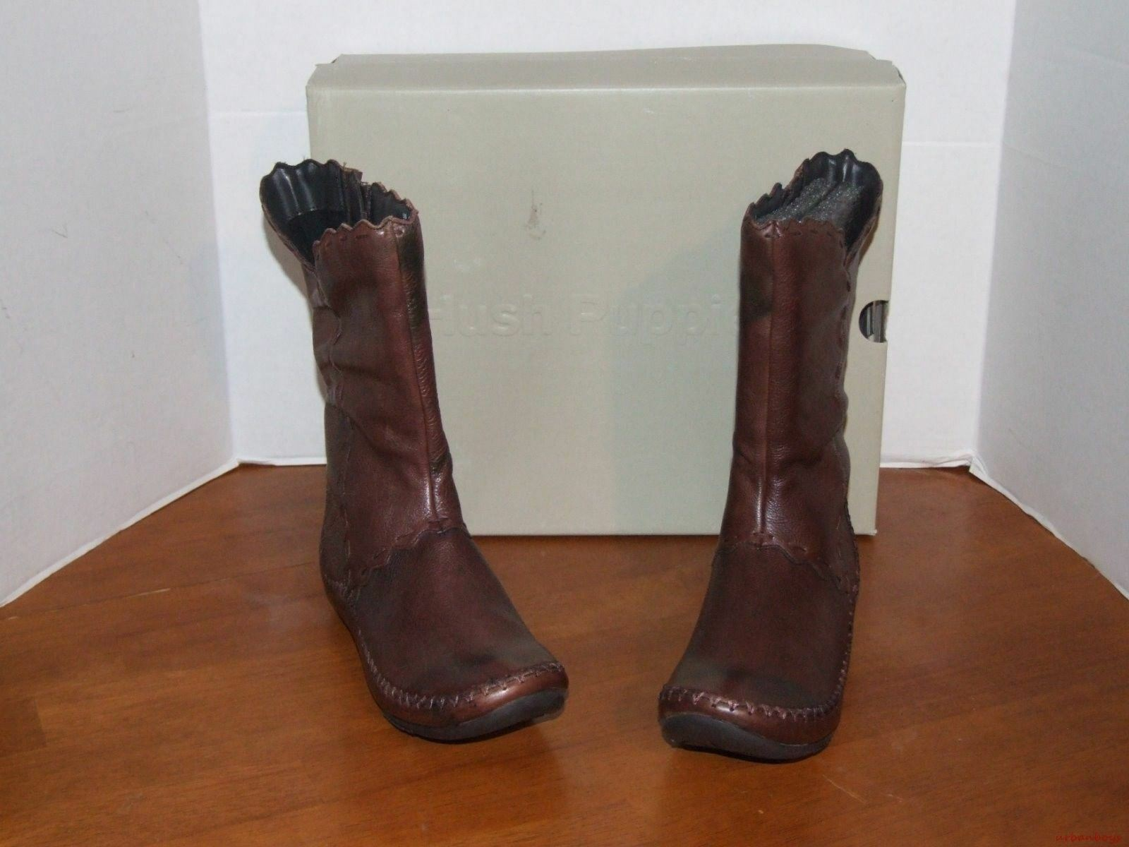 Hush Puppies Shiver Black or Brown Brown Brown Leather Boots c98f00