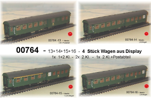 De-Marklin-00764-umbauwagenzug-034-Augsbourg-034-4-voitures-de-la-DB-neu-dans-neuf-dans-sa-boite