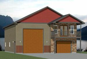 36x42 Apartment with 1-Car 1-RV Garage -- PDF Floor Plan ...