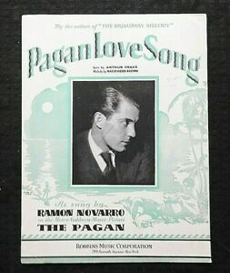 1929-Ramon-Navarro-in-034-The-Pagan-034-Pagn-Love-Song-MGM-Talking-Picture-SHEET-MUSIC