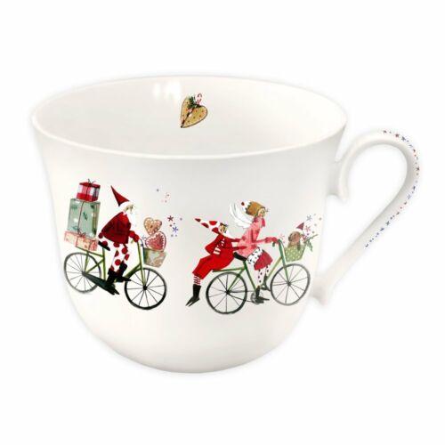 SILKE LEFFLER*Weihnachten*Porzellan*BIG*Mug*Tasse*Becher*Rentier*Rad*in G-Box