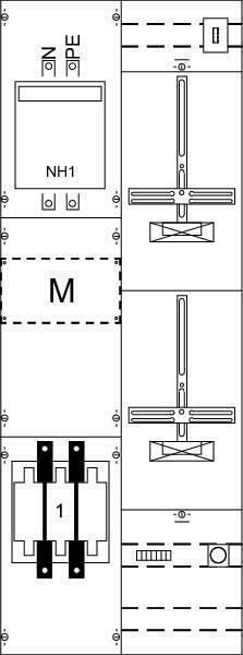 Striebel&John Mess-u.Wandlerfeld KA4211 IP2XC grau Zählerfelder 2CPX033815R9999