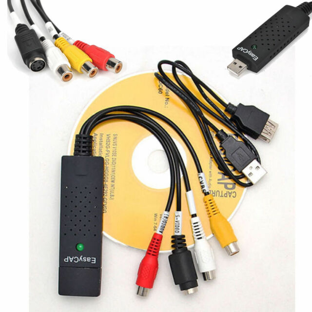 Capture Card Video USB 2.0 to DVD Adapter Converter EasyCap PC WIN7/8/10/XP A
