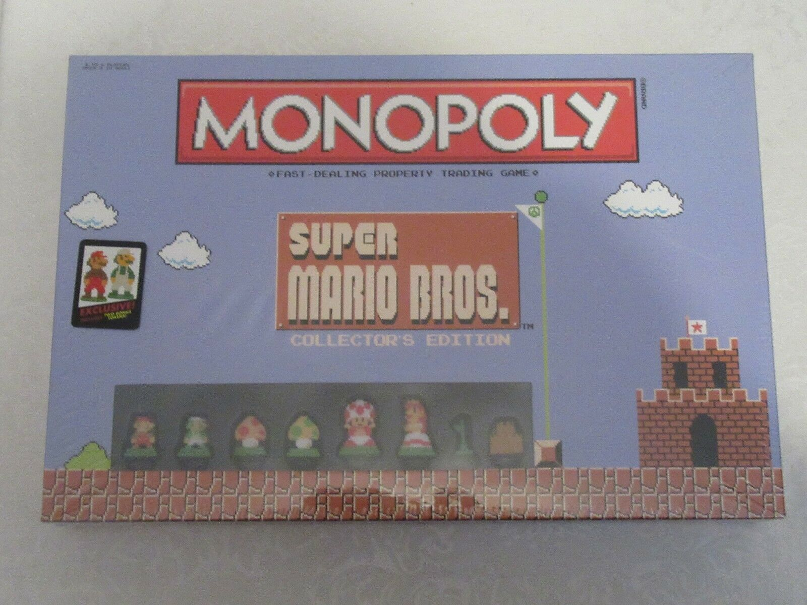 Monopoly Super Mario Bros Collector's Edition Gamestop Exclusive Two Bonus Token