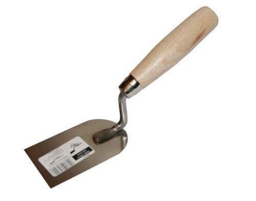 plâtrerie inoxydable 60mm Poignée en bois outils de bricolage Petite marge stuc Truelle