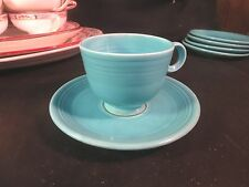 Vintage Fiesta Turquoise Cup & Saucer