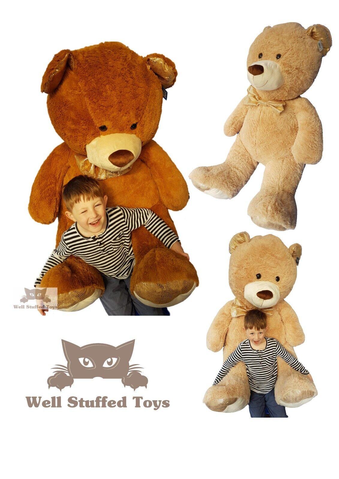 Large Teddy Teddy Bear Giant Teddy Bears Big Soft Plush 105cm Quality golden Paws