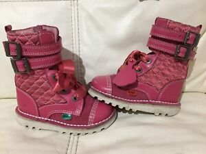 Stunning Girls Pink Leather Quilted