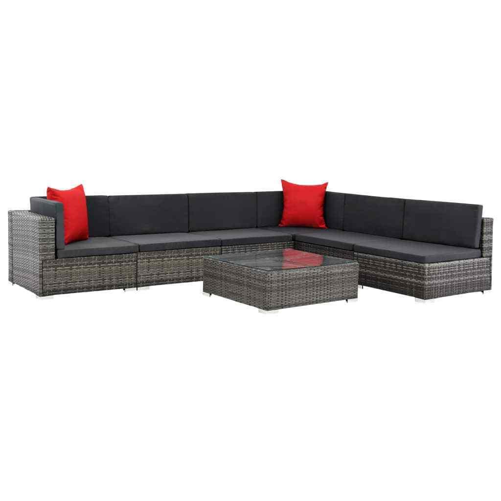 VidaXL Gartenmöbel 23-tlg. Poly Rattan Lounge Sofa Sitzgruppe Sitzgruppe Sitzgruppe mehrere Auswahl c19ad5