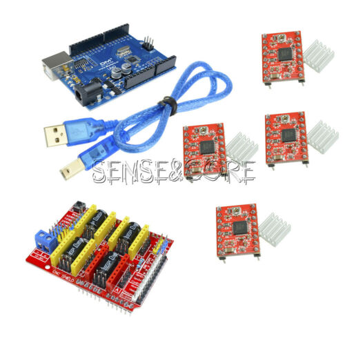 4PCS Heatsink Kits For CNC Kit CNC Shield V3.0 A4988 Driver UNO R3 Board