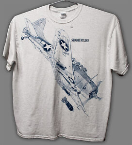 SBD-Dauntless-WW2-WWII-Airplane-T-shirt-with-HUGE-print-on-front-Adult-sizes