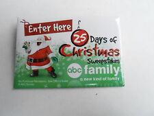 VINTAGE PROMO PINBACK BUTTON #108-022 -  DAYS OF CHRISTMAS SWEEPSTAKES - ABC