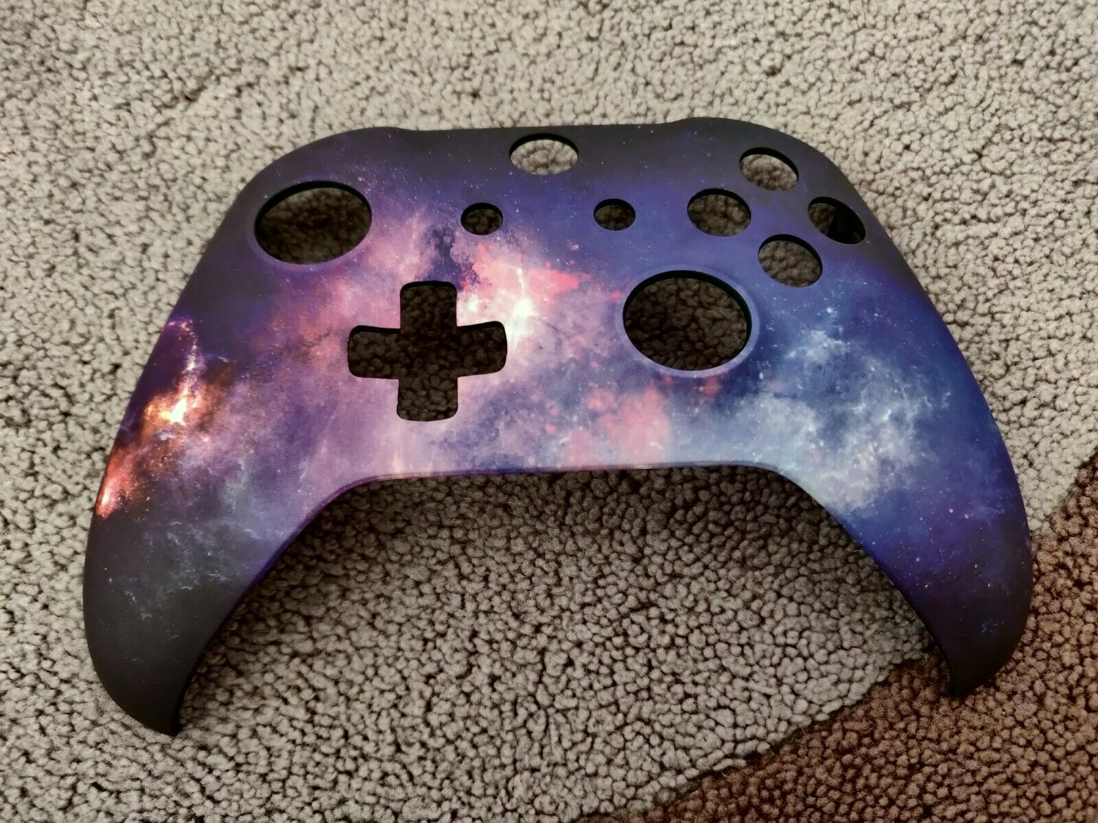 Soft Touch Purple Galaxy Front Shell For Xbox One S Controller