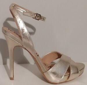 NEW-Sam-Edelman-Eliza-Gold-Ankle-Strap-Sandals-5-034-Heels-8M-US-38M-EUR