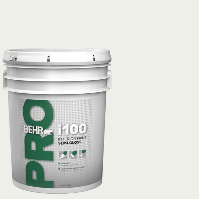Behr Pro I100 Semi Gloss Interior Paint White 5 Gallon For Sale Online Ebay