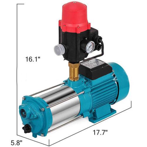 1300W 9.8bar Gartenpumpe Kreiselpumpe Druckschalter Pumpensteuerung 6000l//h 98m