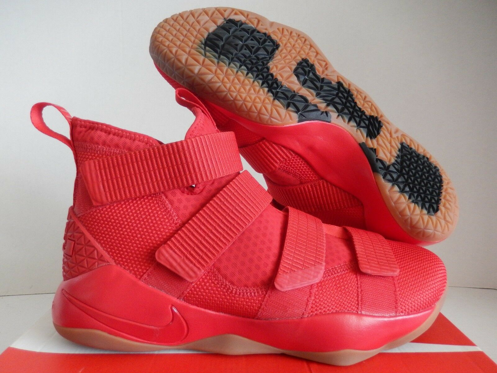 NIKE LEBRON SOLDIER XI SFG ID RED-RED-GUM BROWN SZ 11.5 [AQ2577-993]