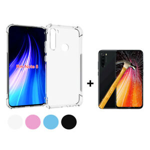 Funda-TPU-silicona-Anti-golpe-Xiaomi-Redmi-Note-8-Protector-Cristal-Templado