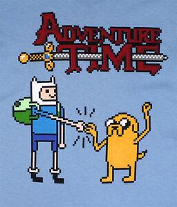 Adventure-Time-Pixel-Finn-amp-Jake-Mens-Licensed-T-Shirt-S-2XL