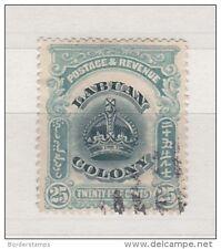 LABUAN 1902 25c verdastra BLU SG126 molto belle usate bc107
