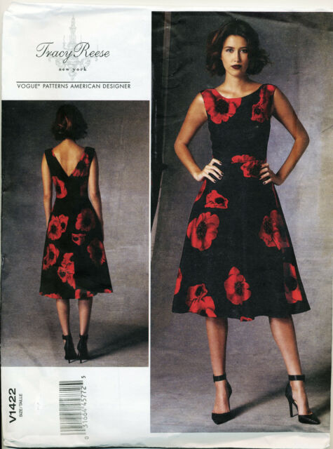 2014 Vogue Sewing Pattern 1422 Misses Sz 14 22 Tracy Reese Lined