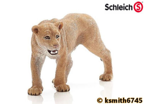 Schleich Lionne solide Jouet en plastique Wild Zoo animal lion chat prédateur * NOUVEAU *