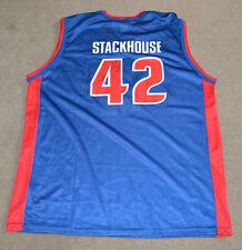 Vtg Jerry Stackhouse Detroit Pistons Autographed Signed Champion Jersey
