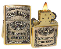 Zippo Lighter 254bjd.428 Jack Daniels Label Emblem High Polish Brass Spirits