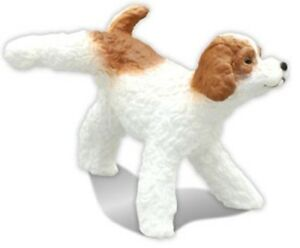 Z60 Doggy Marking His Territory Peeing Pose Mini Figure Toy Poodle Dog White Red