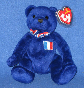 TY MASCOTTE the BEAR  BEANIE BABY - MINT EUROPEAN EXCLUSIVE - MINT with MINT TAG