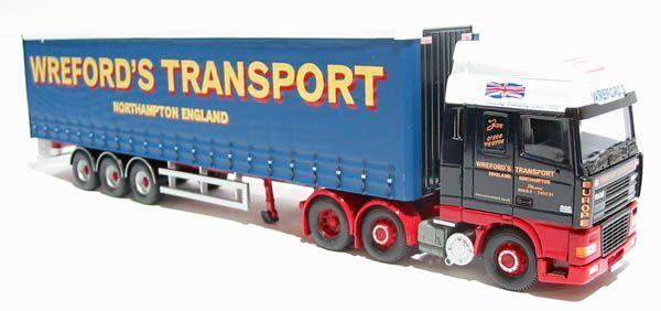 CORGI moderno trasporto pesante CC13216 DAF95 CURTAINSIDE wrefords 1 50 SCALA