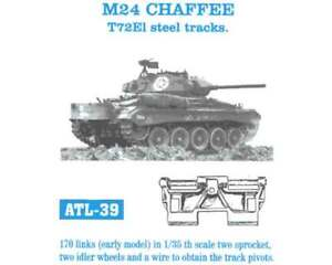 Details about 1/35 ATL39 FreeShip FRIULMODEL METAL TRACKS FOR US TANK M24  CHAFFEE
