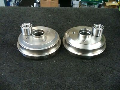 CITROEN SAXO REAR BRAKE DRUMS PAIR 4 STUD WITH BEARINGS FITTED