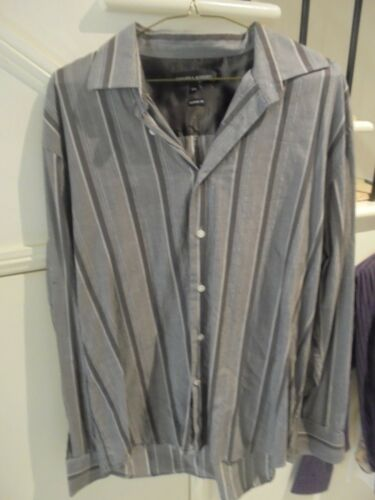 MENS HAIGHT & ASHBURY LABEL 6XXL GREY BROWN BUSINESS FORMAL SHIRT