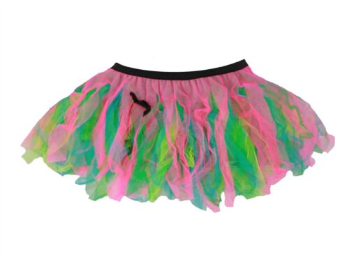 "Ladies 12/"" Festival of Colour Cyber Rave Tutu Burning Man Festival Wear Uk Made"