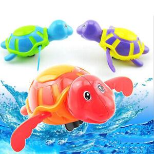 Bebe-Juguete-infantil-Nadar-Tortuga-Cuerda-Mecanica-Ninos-Playa-Bano-Juguetes