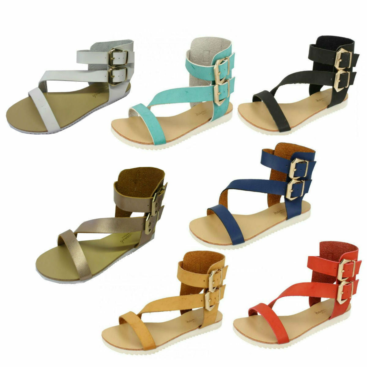 Ladies F0R866 Buckle Ankle Strap Buckle F0R866 Sandals By Savannah e05e14