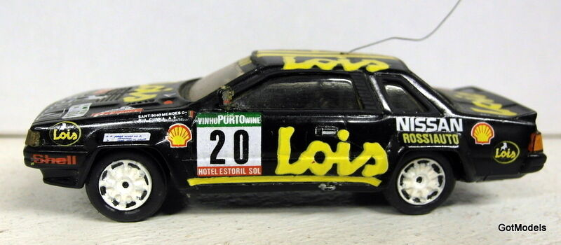 Project Fernanado Pinto 1 43 Scale resin Nissan 240 RS Rally Portugal 1985