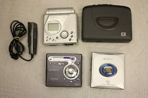 JOB-LOT-4-X-WALKMAN-SONY-WM-FX261-MZ-ES01-MZ-G750-SHARP-MD-MT90-di-ricambio-e-riparazione