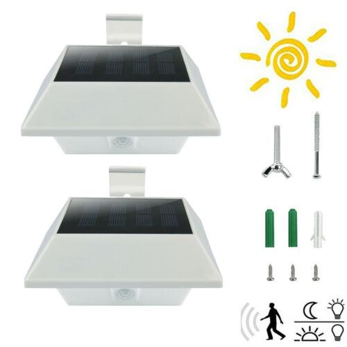2xLED Solarlampen mit Bewegungsmelder Wasserdichte Solarlicht Draußen für Garten