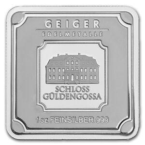 Image Is Loading 1 Oz Silver Bar Geiger Edelmetalle Original Square