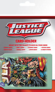 NEW JUSTICE LEAGUE OF AMERICA CARD HOLDER BUS PASS OYSTER TRAVEL CREDIT DC 184