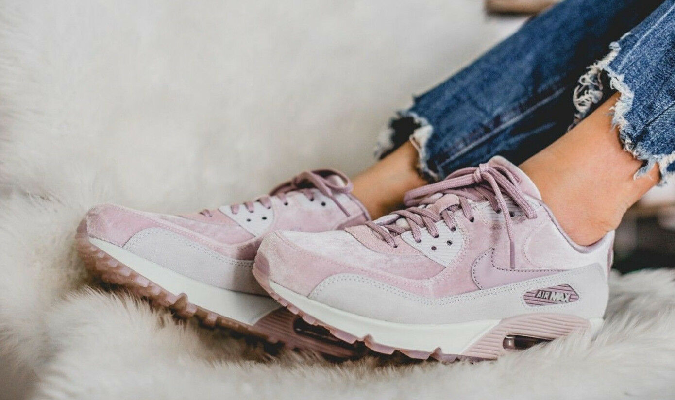 NEW Nike Women Air Max LX 90 Particle pink Velvet Pink Lifestyle Sneaker Sz 9