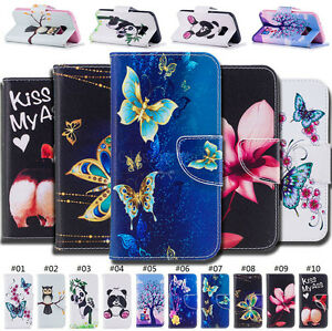 For-Samsung-Galaxy-Pattern-Stand-Wallet-Card-Flip-Holder-Case-PU-Leather-Cover